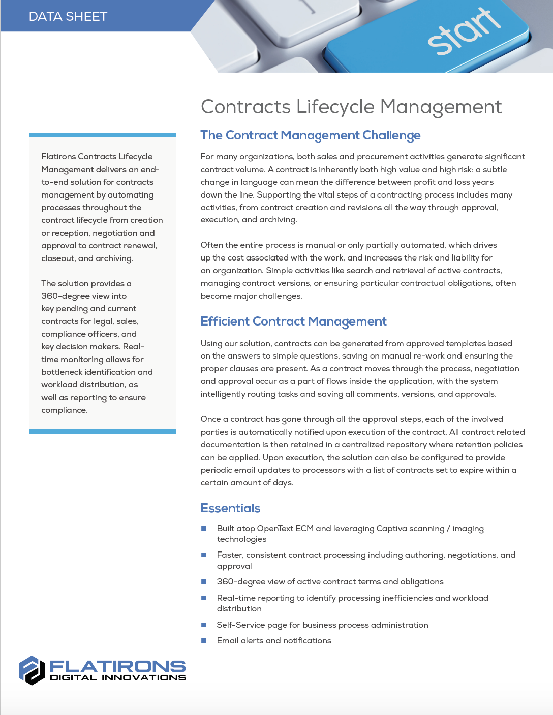 Contracts Management - Flatirons Digital Innovations