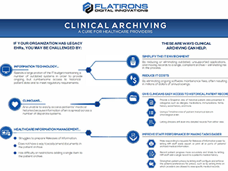 clinical archiving infographic image