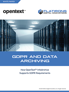 GDPR and data archiving white paper image