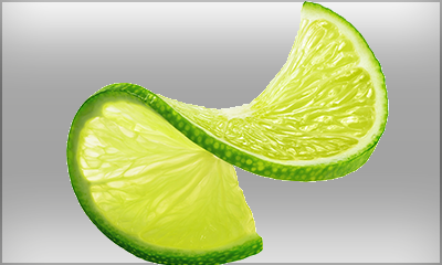 slice of twisted lime