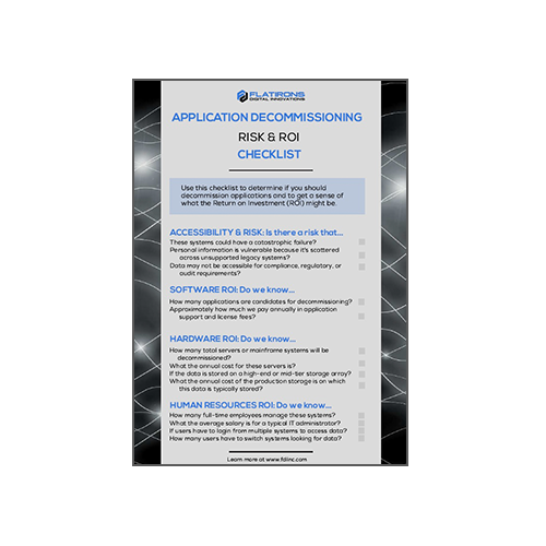 Application Decommissioning Checklist Risk & ROI