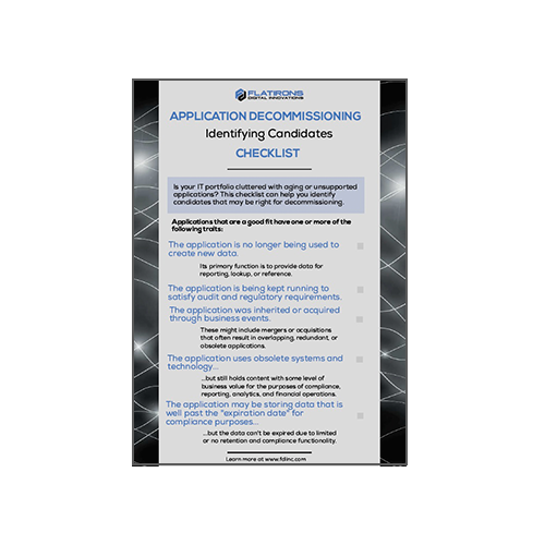 Application Decommissioning Checklist - Identifying Candidates