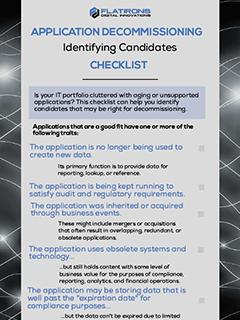 application decommissioning checklist image