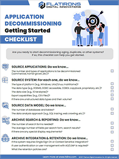 Application Decommissioning Checklist - Getting Started
