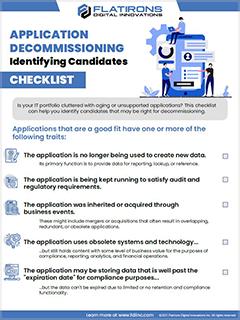 Application Decommissioning Checklist - Identifying Candidates