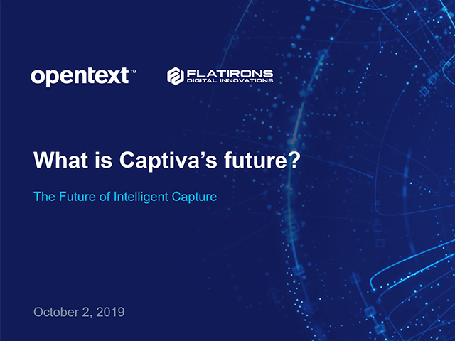 Future of Captiva webinar title slide