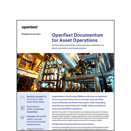 OpenText Documentum for Asset Operations data sheet image