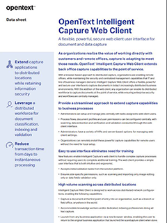 OpenText Intelligent Capture Web Client image