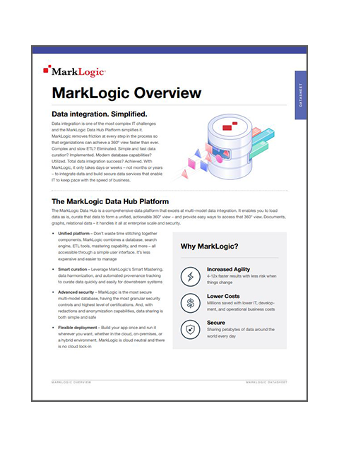 MarkLogic data sheet overview