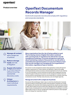 OpenText Documentum Records Manager