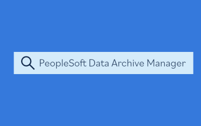 PeopleSoft Data Archive Manager search image