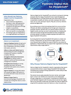 Flatirons Digital Hub for PeopleSoft data sheet image