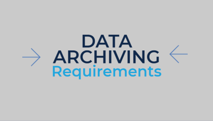 data archiving requirements